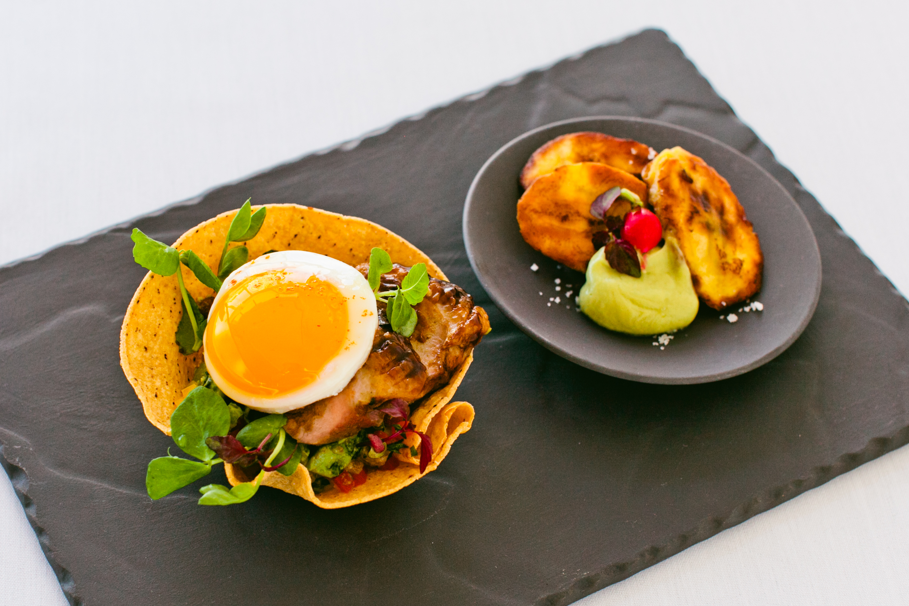 Brunch_Chef Amy BBQ Duck Tostada 2 _2014_Copyright Melissa Murphy